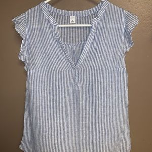 Old Navy Striped top. Size Small